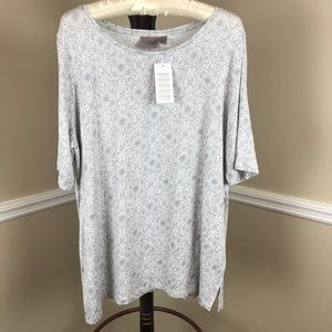 Easywear by Chico's Size 2, 3/4 Sleeve Top-NWT